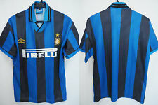 1995-1996 Inter Milan Internazionale Jersey Shirt Maglia Home Pirelli Umbro M