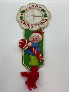 Vintage Door Knob Hanger Christmas Elf Handmade