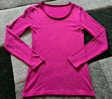 M&S Thermal Heatgen Plus Long Sleeve Extra Warmth Top size 10 Magenta sparkle