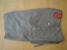 Levis Men's Leisure Gray Shorts with Pockets Regular Fit Flat Front XSmall $50