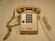 1986 Vintage Ctg Desk Phone #2500e Ash Almond
