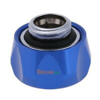 G1/4'' Thread 14mm Quick Fixing Hard Tube Connector for PC Water Cooling Blue
