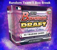 2019 Bowman Draft Sapphire Edition Baseball Random Team 1 Box Break