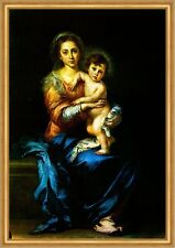 Madonna mit Kind Murillo Maria Christuskind Jesus Heilige Sankt LW H A1 0211