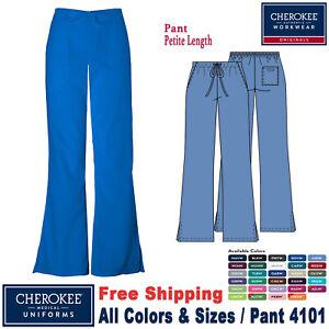 Cherokee Scrubs ORIGINAL Women's Natural Rise Flare Leg Pant 4101 Petite