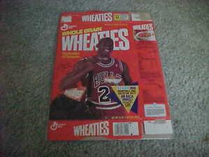 1991 Michael Jordan Chicago Bulls Wheaties Box with Fleer Basketball Sheet #5