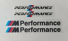 BMW M Performance 4x logos Autocollants Stickers Motorsport Noir
