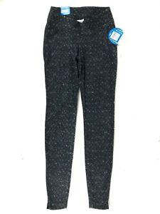 Columbia Glacial Fleece Leggings Womens Size S Black Gray Geometric NEW