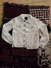 True Religion White Denim Jacket Coat sz 6 New NICE!