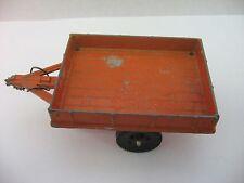 Vintage Orange Trailer Metal Toy by Gabriel Industries of Lancaster PA ~ Broken~