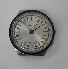 Russian USSR Vintge RAKETA 24 hour. World time. Cities. Polar Antartic watch.