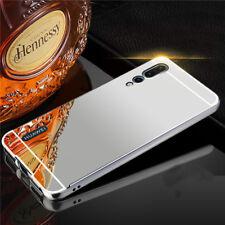 Para Huawei p20 pro mirror ALU parachoques 2 pzas. bolsa de plata, funda protectora, funda, nuevo