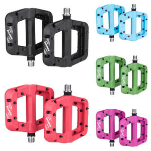MTB Bike Pedals Non-Slip Mountain Bike Pedals Platform Bicycle Flat Pedals R7O5