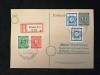 Deutschland  Alliierte Besetzung 20.10.1946 - Karte Dresden Ausstellung Nr.1