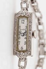 Antique 1940s $6000 RADO Signed 1ct VS G Diamond Platinum Ladies Watch WARRANTY