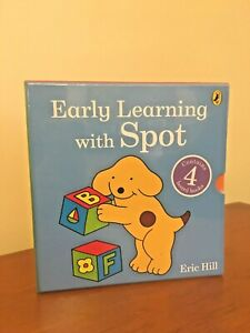 NEW Early Learning With Spot 4 Board Books Set Eric Hill