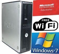 Dell Tower Desktop Computer PC Core 2 Duo 3.0Ghz 8GB 1TB Win 7 64 WIFI