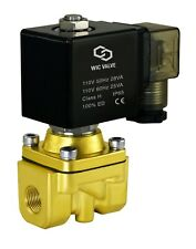 "Brass Zero Differential High Flow Electric Air Water Solenoid Valve 1/4"" 110V AC"