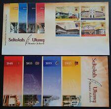 2008 Malaysia Premier School 4v Stamps FDC (Melaka) ERROR on Information Leaflet