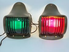 Vintage Bronze Wilcox-Crittenden Port and Starboard Bow Lights