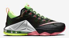 "Nike Lebron shoeNike LeBron 12 Low ""Remix Nike LeBron 12 Low ""Remix"" Black/Green"