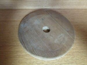 "VINTAGE WOODEN BUTTER CHURN LID 8.5"" Diameter 1 1/16"" Diameter Hole"