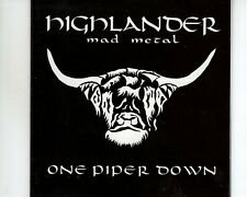 CD HIGHLANDER	one piper down MAD METAL	DUTCH METAL EX+ (B3304)