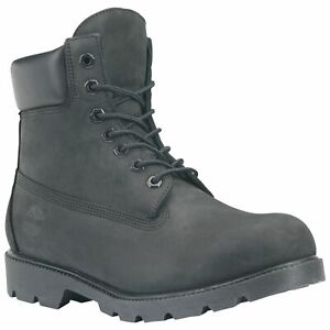 "Timberland Men's Icon 6"" Basic Waterproof Boot Black Size 10 Wide"