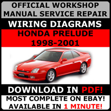 # OFFICIAL WORKSHOP SERVICE Repair MANUAL HONDA PRELUDE 1996-2001 +WIRING#