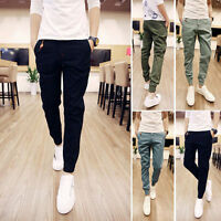 2017 New Men's Jogger Casual Gym Harem Skinny Sweat Pants Trousers Sports Gift.