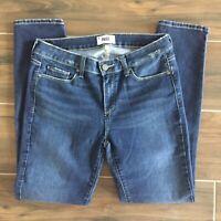 Paige Denim Skyline Ankle Peg Skinny Medium Wash Distressed Jeans Sz 31