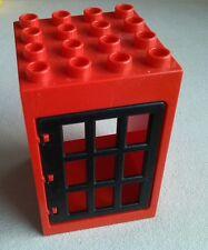 LEGO Duplo Haus rot Eingäng Tür schwarz Eisenbahn Cowboys 6360 9185 9175 2933
