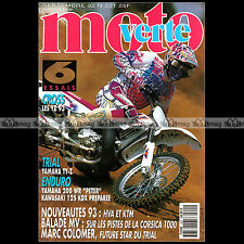 MOTO VERTE N°221 YAMAHA YZ TY 250 Z 200 WR KAWASAKI 125 KDX MARC COLOMER 1992