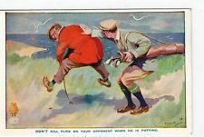 NORTH BRITISH RUBBER Co: Comic Golf postcard (C3816).