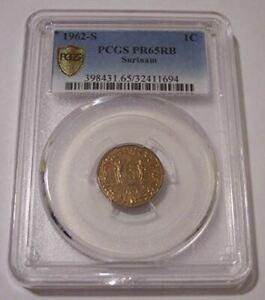 Suriname 1962 S Cent Proof PR65 RB PCGS Low Mintage