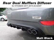 Rear Bumper Dual Muffler Diffuser Matt Black For HYUNDAI 2011-2017 Accent Verna