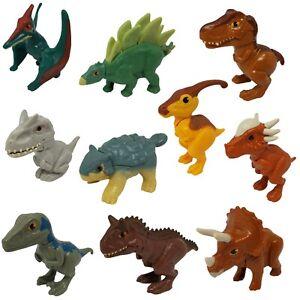 McDonald's Happy Meal Toy Jurassic World Dinosaurs 2020 Set of 10 Dinosaurs Bulk