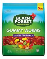 Black Forest Gummy WORMS Candy, 5 Pound