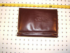 Infiniti owner's manual BURGUNDY leather EMTPY 1 pouch with engraved logo,Type#2