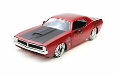 Jada Kustoms 1970 Plymouth Cuda Red New Without Box 1/24 Diecast  Cars