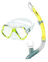 Mares Zephir Schnorchelset Tauchermaske mit Schnorchel Gelb für ihren Urlaub