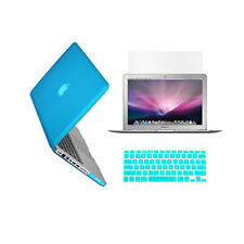 "3in1 AQUA BLUE Rubberized Case for Macbook Pro 15"" A1398 /Retina display+Key+LCD"
