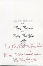 WILLIAM JANNEY ACTOR IN COQUETTE W/ MARY PICKFORD SIGNED XMAS CARD AUTOGRAPH