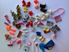 Vintage Mattel Barbie (and other) Lot of  Shoes and Accessories Glasses Camera