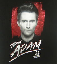 Team Adam Levine The Voice Maroon 5 I Want You Black Girls Women T-Shirt Size S