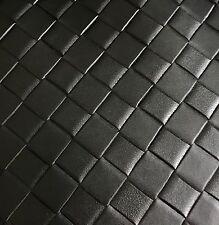 Kunstleder Meterware in Schwarz mit grober Flechtoptik 154cm breit 1,6mm stark