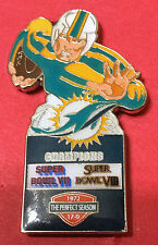 MIAMI DOLPHINS 2X SUPER BOWL CHAMPS - 1972 PERFECT SEASON PIN