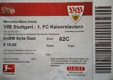 TICKET 2010/11 VfB Stuttgart - Kaiserslautern
