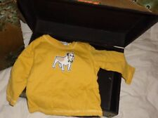 Janie and Jack Bulldog Heritage Yellow Blue Stripe Reversible Size 3-6 months
