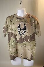 Mens Desert Camo Soulfly World Noise NuMetal Band Short Sleeved T Shirt Size L